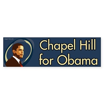 Chapel Hill for Obama bumper sticker