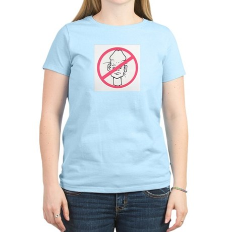 No Dickheads  Women's Pink T-Shirt