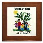 Families are made with love - Framed Tile