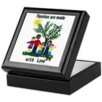 Families are made with love - Keepsake Box