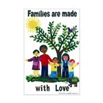 Families are made with love - Mini Poster Print