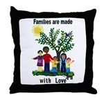Families are made with love - Throw Pillow