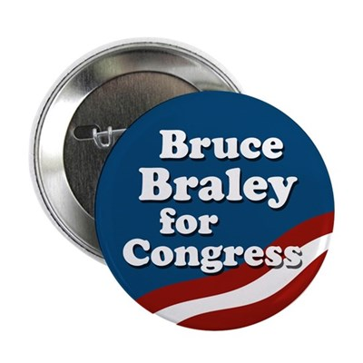 Bruce Braley for Congress campaign button