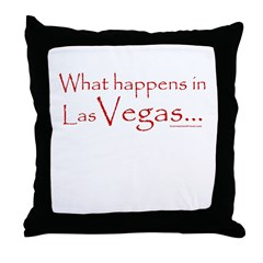 """What Happens in Vegas . . . "" throw pillow"