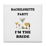 Bachelorette Brides Tile Coaster