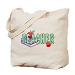 Teacher Apples Tote Bag