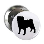 "Pug Silhouette 2.25"" Button (10 pack)"