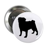 "Pug Silhouette 2.25"" Button (100 pack)"