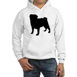 Pug Silhouette Hooded Sweatshirt