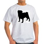 Pug Silhouette Light T-Shirt