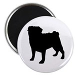 Pug Silhouette Magnet