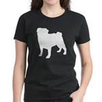Pug Silhouette Women's Dark T-Shirt