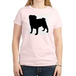 Pug Silhouette Women's Light T-Shirt