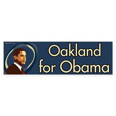 Oakland for Obama bumper sticker
