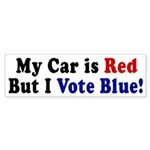 Red Car, Vote Blue (bumper sticker)