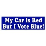 Red Car, Blue Vote (bumper sticker)