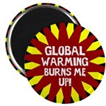 Burning Global Warming Magnet