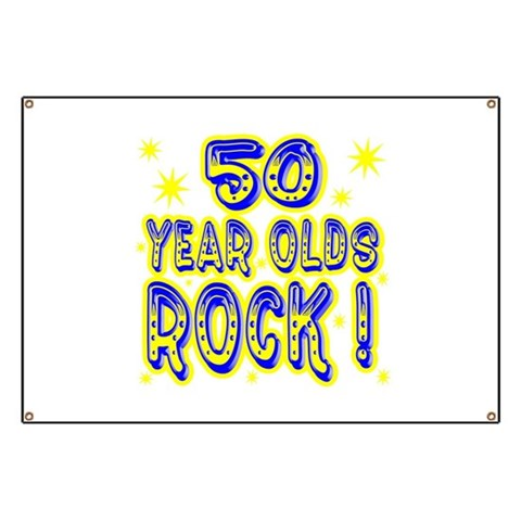 50 Year Olds Rock   Baby Banner by CafePress