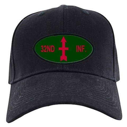 128th Infantry Regiment   Military Black Cap by CafePress