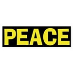 Peace (anti-war Bumper Sticker)