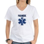 Paramedic Star of Life Women's V-Neck T-Shirt