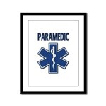 Paramedic Star of Life Framed Panel Print