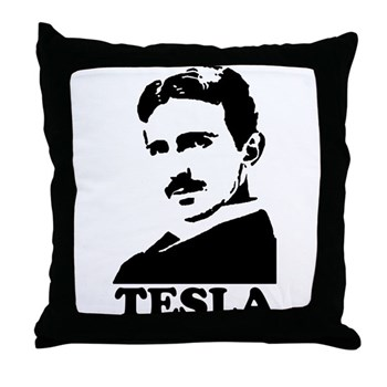 Tesla Throw Pillow | Gifts For A Geek | Geek T-Shirts