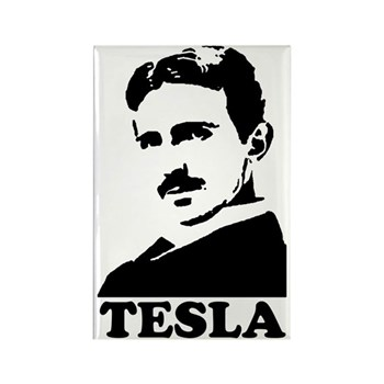 Tesla Rectangle Magnet | Gifts For A Geek | Geek T-Shirts