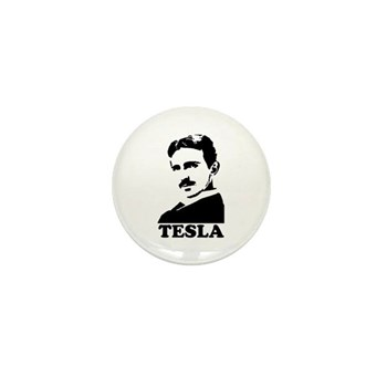 Tesla Mini Button | Gifts For A Geek | Geek T-Shirts