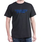 Velocity Twin Aircraft #2 Black-Blue T-Shirt