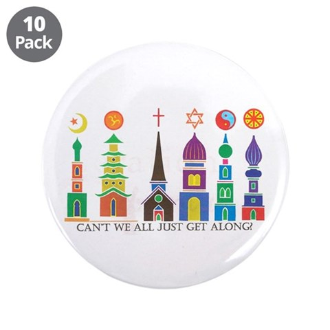 3.5quot; Button 10 pack Religion 3.5 Button 10 pack by CafePress