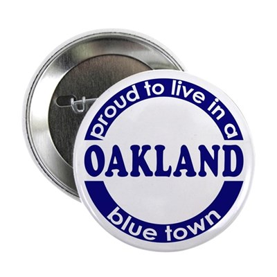 Oakland: Blue Town Button