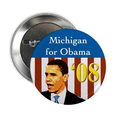 Michigan for Obama patriotic campaign button