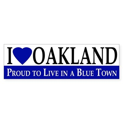 I Love Oakland (bumper sticker)