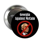 Georgia Against McCain campaign button