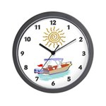 Boats Ahoy Wall Clock