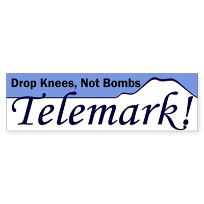 Drop Knees Telemark Bumper Sticker