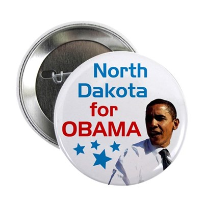 North Dakota for Obama campaign button