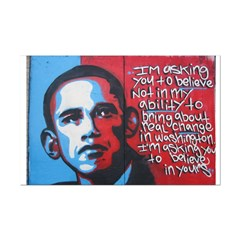 Obama Graffitti Mini Poster Print