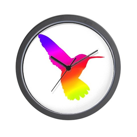 Hummingbird Art  Art Wall Clock by CafePress