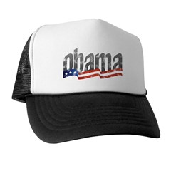 Obama Flag Wave Rising Trucker Hat