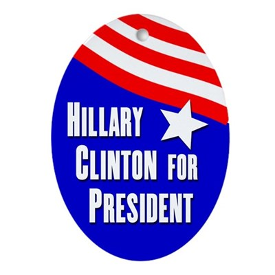 Hillary Clinton 2012 oval ornament