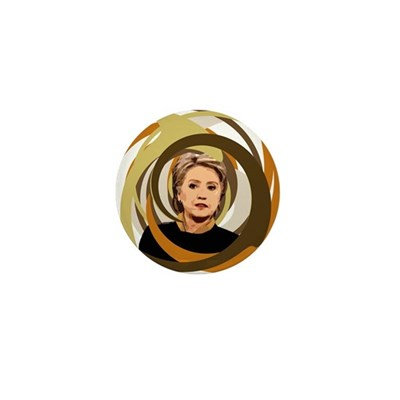 Hillary Clinton Swirling Vortex Pin