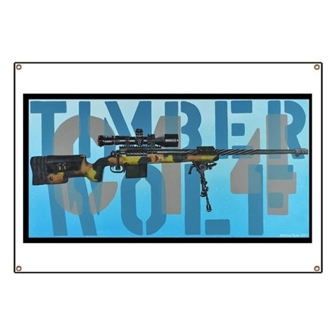 CH 14 TIMBERWOLF  Military Banner by CafePress
