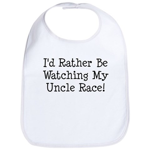 Watch My Uncle Race Cute Bib