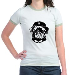 Black Pug Icon- Jr. Ringer T-Shirt