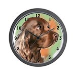 field spaniel portrait Wall Clock