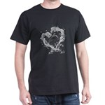 Dolphin jumpung by a heart made of water T-Shirt