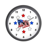 USA Stars and Stripes Wall Clock