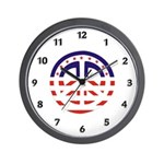 American Peace Wall Clock